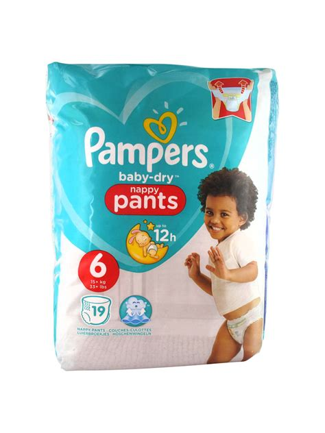 Pampers Baby-Dry 19 Pants Size 6 (15kg and +)