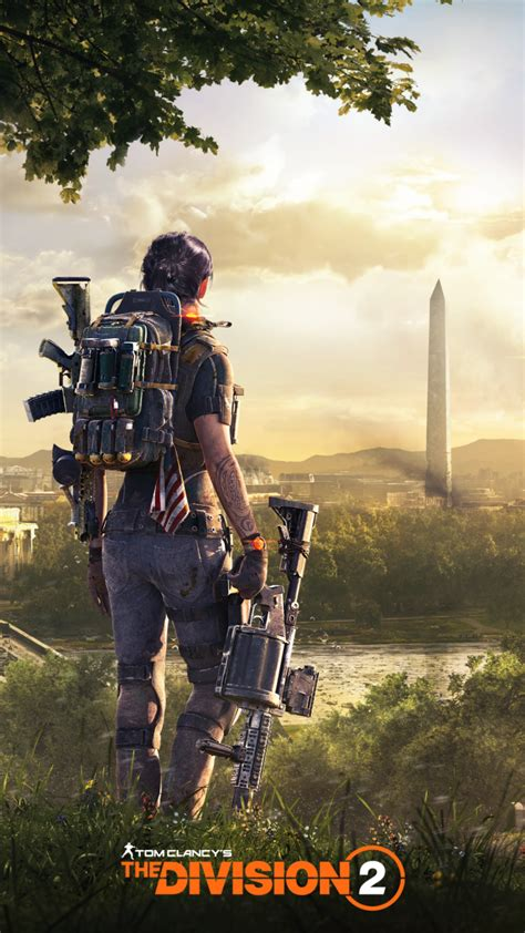 Wallpaper Tom Clancy's The Division 2, Tower, Backpack