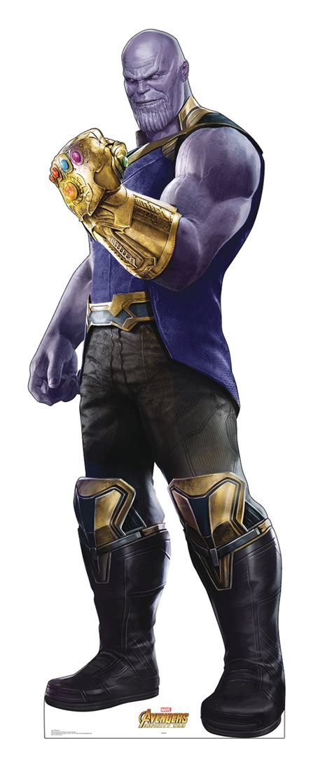 OCT188148 - MARVEL INFINITY WAR THANOS LIFE-SIZE STAND UP
