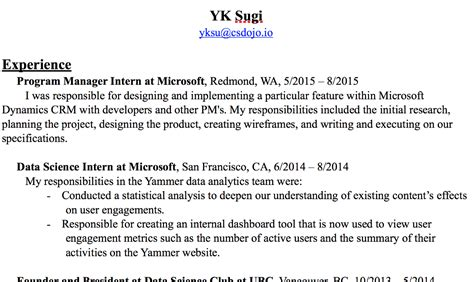 Here's the resume I used to get a job at Google as a
