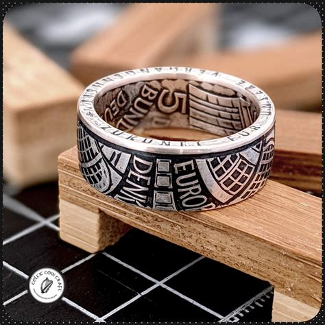 1975 Architectural German Coin Ring | Celtic Coin Craft