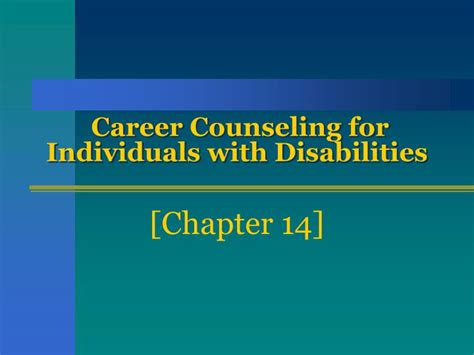 PPT - Career Counseling for Individuals with Disabilities