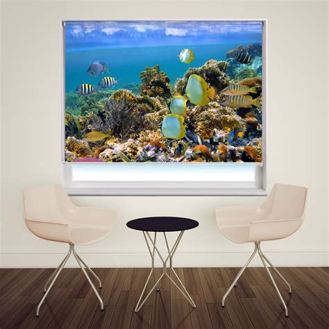 Tropical fish under the sea photo roller blind | made in