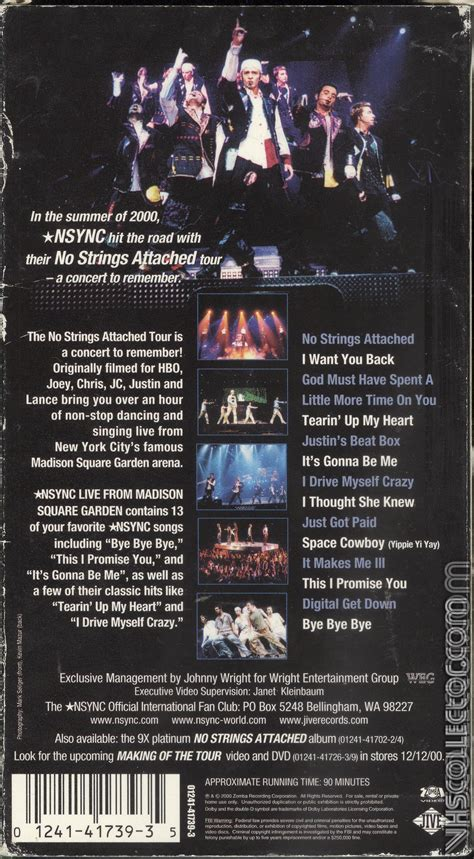 NSYNC: Live from Madison Square Garden   VHSCollector