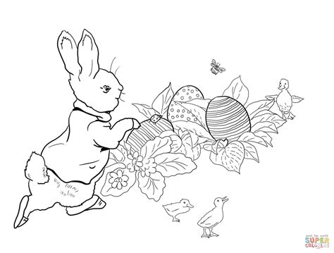 Peter Rabbit Easter Egg Hunt coloring page | Free