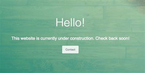 How to Create an Under Construction Page - Jimdo Support