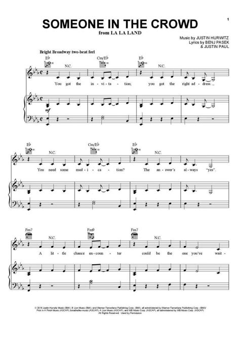 Someone in the Crowd Piano Sheet Music