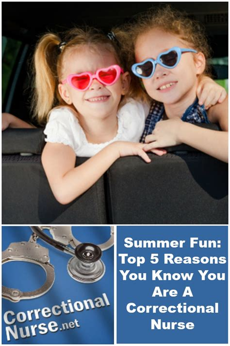 Summer Fun: Top 5 Reasons You Know You Are A Correctional
