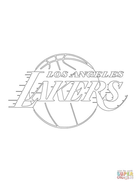 Lakers Coloring Pages - Coloring Home