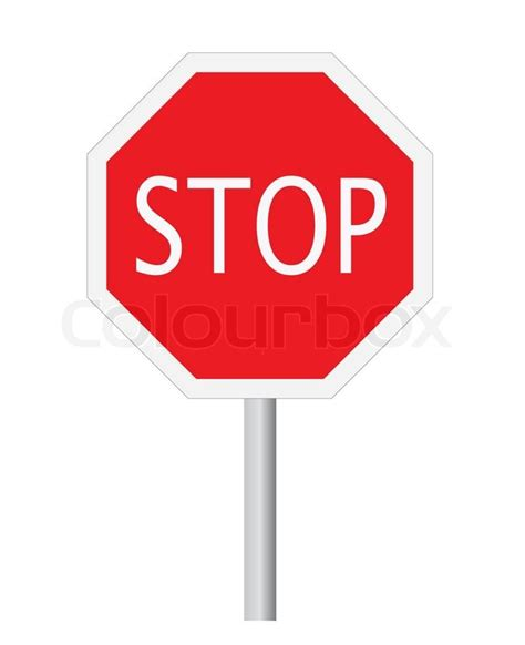 Vector stop sign-symbol isolated on white | Stock Vector