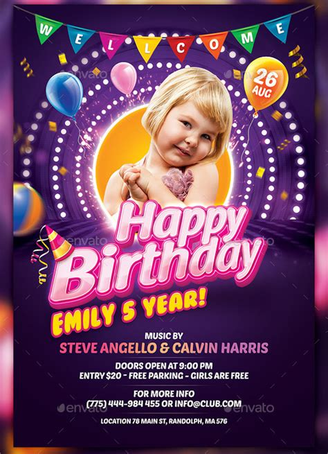 FREE 30+ Spectacular Birthday Flyer Templates in EPS   PSD