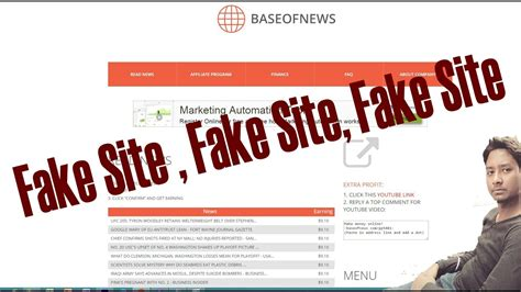 How to Earn Money Fake Site Must Watch (baseofnews