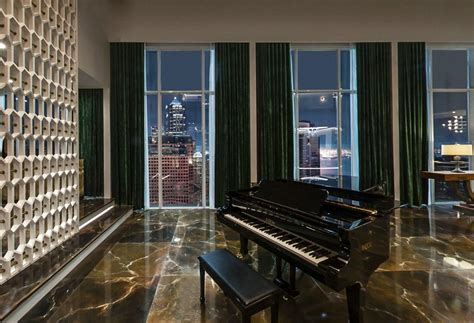 a look at the set design of christian grey's penthouse