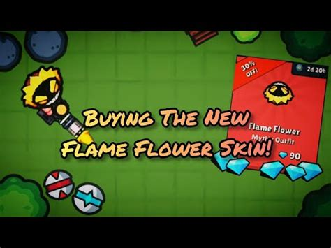 Zombs Royale - Buying the New Flame Flower Skin! - Grizix