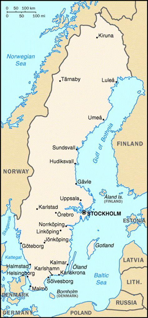 Sweden - Government, History, Population, Geography and Maps